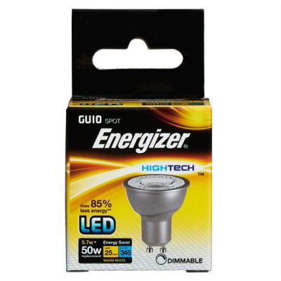 5.7 Watt Dimmable Energizer High Tech LED Warm White 345lm 36° GU10
