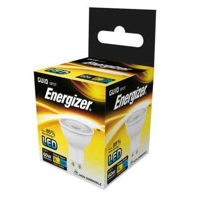 5.8 Watt Energizer LED Cool White 500lm 36° GU10