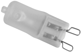 This is a 60W G9 (9mm Apart) Capsule bulb that produces a Warm White (830) light which can be used in domestic and commercial applications