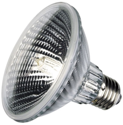This is a 75W 26-27mm ES/E27 Reflector/Spotlight bulb that produces a Warm White (830) light which can be used in domestic and commercial applications