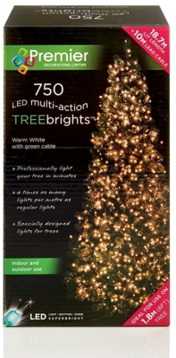 750 LED Multi Action TREEbrights Warm White (For 6ft Tree)