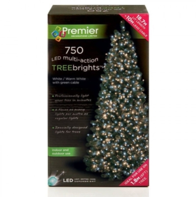 750 LED Multi Action TREEbrights WarmWhite/White (For 6ft Tree)