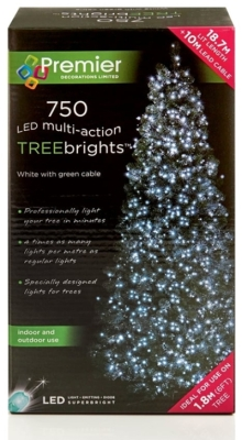750 LED Multi Action TREEbrights White (For 6ft Tree)