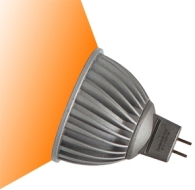 This is a 7 W GX5.3/GU5.3 bulb that produces a Amber light which can be used in domestic and commercial applications