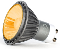 This is a 7 W GU10 Reflector/Spotlight bulb that produces a Amber light which can be used in domestic and commercial applications