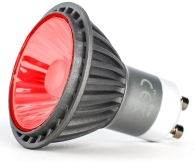 This is a 7 W GU10 Reflector/Spotlight bulb that produces a Red light which can be used in domestic and commercial applications