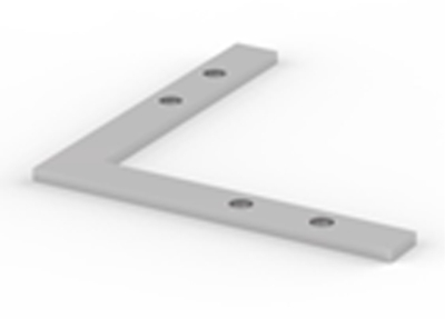 90 Degree Angle Connector for LED Strip Profile (No Hex Socket)