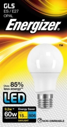 9.2 Watt Energizer LED Daylight 820lm E27 GLS