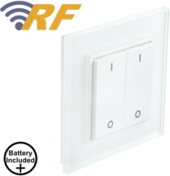 ALL LED 2 Gang Decorative RF Transmitter Switch - Includes Battery