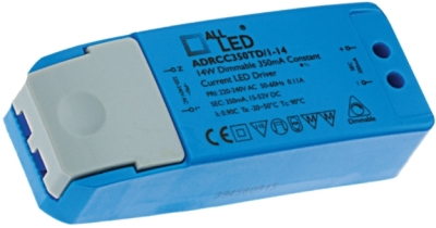 All LED 1-14 x 1w Dimmable LED Driver (350mA Constant Current)
