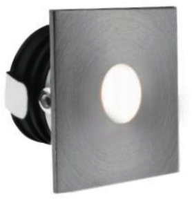 All LED 1 Watt Aluminium IP65 Low Level Round Window (Cool White)