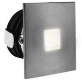 All LED 1 Watt Aluminium IP65 Low Level Square Window (Warm White)
