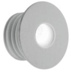All LED 1 Watt White IP65 Low Level Round (Warm White)