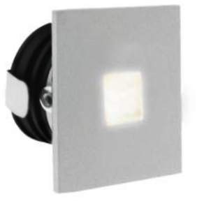 All LED 1 Watt White IP65 Low Level Square Window (Warm White)