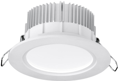 Aurora 220-240V 13W DALI Dimmable LED IP44 Baffle Downlight Warm White (White)