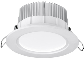 Aurora 220-240V 13W Dimmable LED IP44 Downlight Warm White (White)