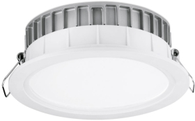 Aurora 220-240V 32W Dimmable LED IP44 Baffle Downlight Cool White (White) Emergency