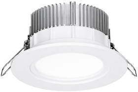 Aurora 220-240V HV Crystal Cool Fixed 13W Dimmable IP44 LED Downlight Warm White