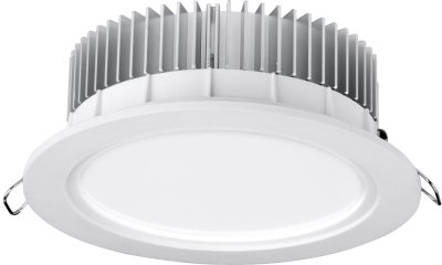 Aurora 220-240V HV Crystal Cool Fixed 19W Dimmable IP44 LED Downlight Cool White