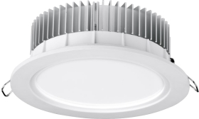 Aurora 220-240V HV Crystal Cool Fixed 19W Dimmable IP44 LED Downlight Cool White Emergency