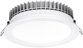 Aurora 220-240V HV Crystal Cool Fixed 32W Dimmable IP44 LED Downlight Cool White