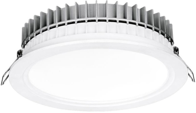 Aurora 220-240V HV Crystal Cool Fixed 32W Dimmable IP44 LED Downlight Cool White Emergency