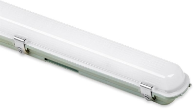 Aurora 240V 25W 1200mm Polycarb. IP65 Single LED Anti-Corrosive 4000K Emergency