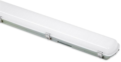 Aurora 240V 50W 1200mm Polycarb. IP65 Twin LED Anti-Corrosive 4000K MS