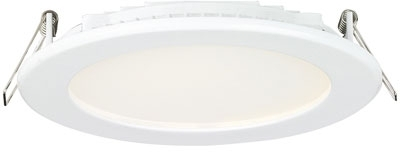 Aurora 24V DC Alum IP44 Fixed 13W Low Profile Round LED Downlight Cool White (White)