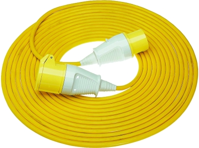 Briticent 110V 16A 2.5mm Yellow Extension Lead (14 Metres)