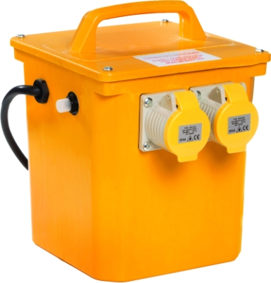 Briticent 110V 3.3kVA Portable Transformer (Twin 16A Outlets + Thermal Cut Out)