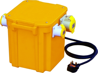 Briticent 110V 5kVA Portable Transformer (Twin 16A Outlets + Thermal Cut Out)