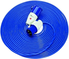 Briticent 230V 16A 2.5mm Blue Extension Lead (14 Metres)