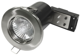 Brushed GU10 Fixed Fire Rated Downlight (Lamp not Included)