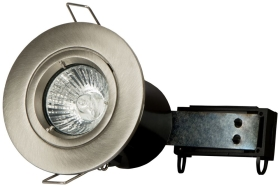 Brushed Twist & Lock Fire Rated Fixed Downlight