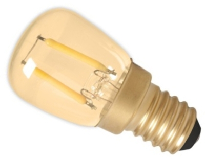 Calex 240V 1.5W Gold Full Glass Filament Pilot Lamp 130lm 2100K Warm White E14