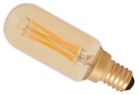Calex 240V 3.5W Gold Dimmable Full Glass Filament Tubelar-Type Lamp 270lm 2100K Warm White E14