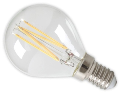 Calex 240V 4W Clear Dimmable Full Glass Filament Ball Lamp 470lm 2700K Warm White E14