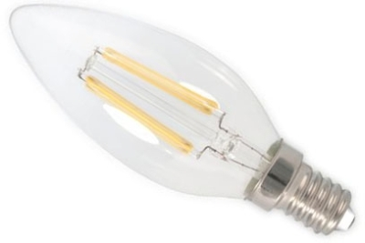 This is a 3.5W 14mm SES/E14 Candle bulb that produces a Very Warm White (827) light which can be used in domestic and commercial applications