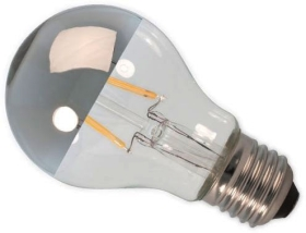 Calex LED Dimmable Filament 4W GLS Crown Silver ES Very Warm White
