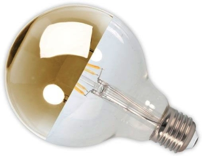 Calex LED Dimmable Filament 4W Globe Crown Gold ES Very Warm White