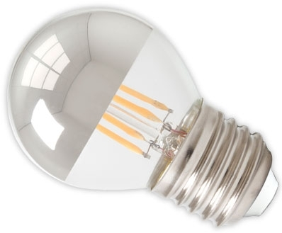 Calex LED Filament 4W Golfball Crown Silver ES Very Warm White