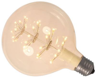 This is a 2.5W 26-27mm ES/E27 Globe bulb that produces a Very Warm White (827) light which can be used in domestic and commercial applications