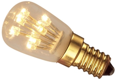 This is a 1W 14mm SES/E14 Pygmy bulb that produces a Very Warm White (827) light which can be used in domestic and commercial applications