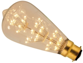 This is a 2W 22mm Ba22d/BC Squirrel Cage bulb that produces a Very Warm White (827) light which can be used in domestic and commercial applications