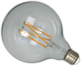 Calex Vintage LED Dimmable Filament G125 Globe 4W ES Clear (30W Alternative)