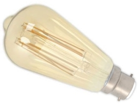 This is a 4W 22mm Ba22d/BC Squirrel Cage bulb that produces a Very Warm White (827) light which can be used in domestic and commercial applications
