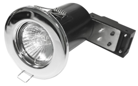 Chrome GU10 Fixed Fire Rated Downlight (Lamp not Included)