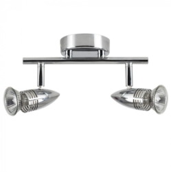 Chrome Salsa Bullet Head 2 Way Bar Spotlight Silver