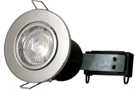 Chrome Twist & Lock Fire Rated Fixed Downlight